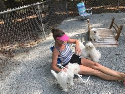 Kristy and Pups
